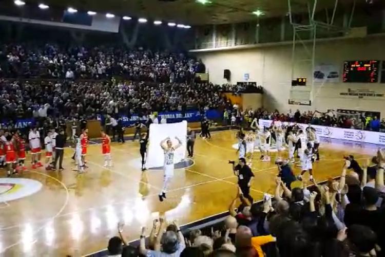 U Banca Transilvania a câștigat Cupa României la baschet. VEZI bucuria de la finalul meciului  - VIDEO