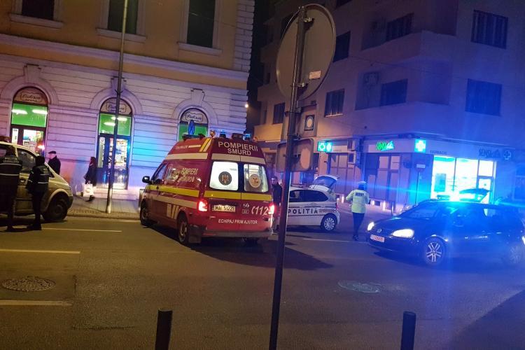 Pieton lovit de mașină pe Eroilor. Un bărbat de 70 de ani a ajuns la spital FOTO