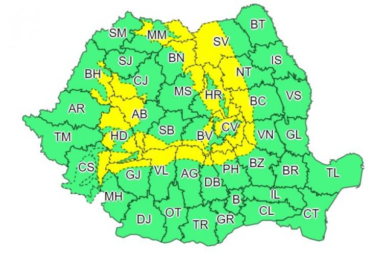 Urmează încă o zi de vijelii! Clujul este afectat