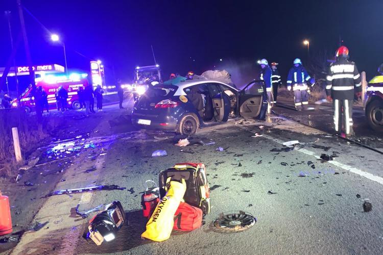 Accident grav la Mera, la ieșire din Cluj-Napoca - FOTO