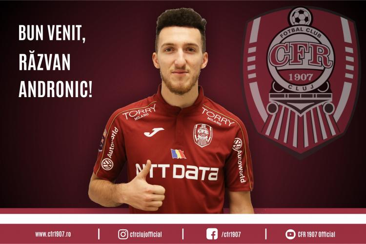 CFR Cluj a anunțat un nou transfer. Răzvan Andronic revine în orașul natal