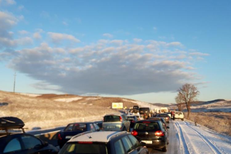 De ce a înghețat, joi dimineața, DN1 de la Cluj la Turda. Totul s-a întâmplat prea repede