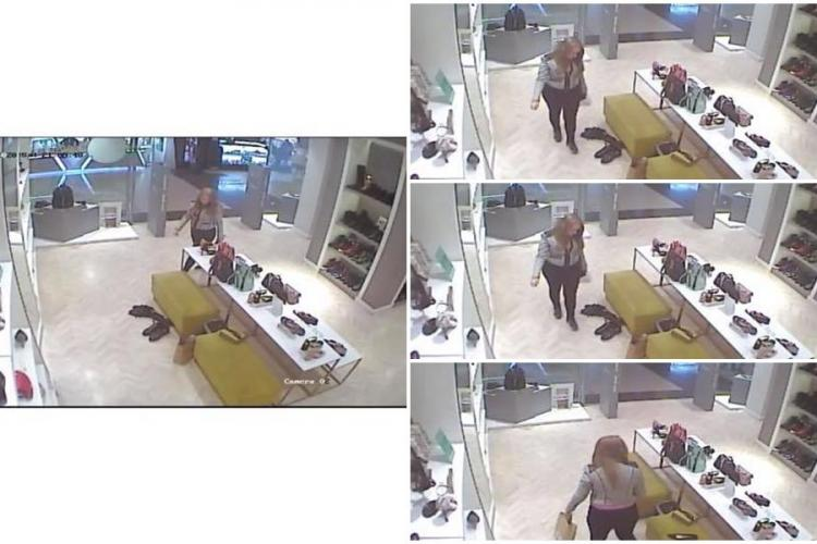 Cum acționează o hoață într-un mall clujean! Și-a urmărit ținta pas cu pas - FOTO