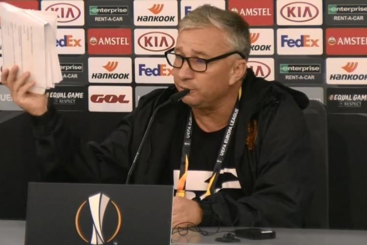 Dan Petrescu a făcut criză de nervi după eliminarea CFR-ului din Europa League: Golul a fost valabil