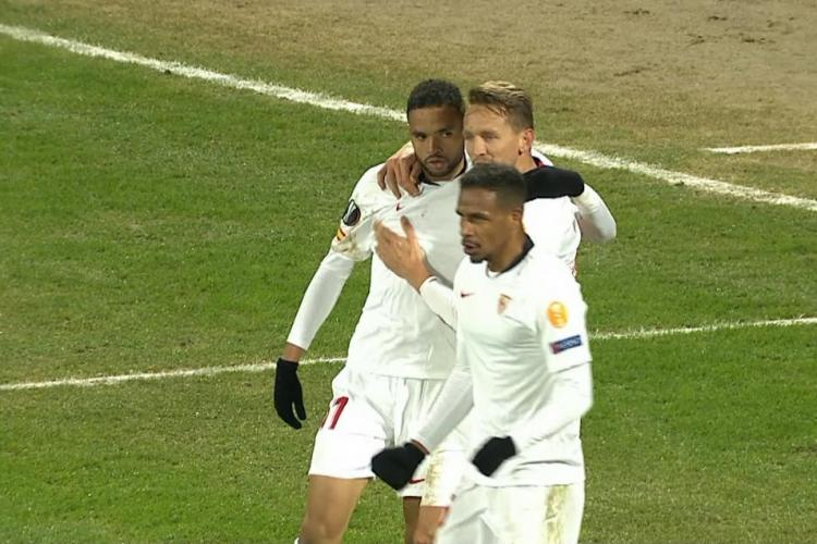 CFR Cluj egal cu Sevilla, în Gruia. Spaniolii au avut noroc pe final - REZUMAT VIDEO