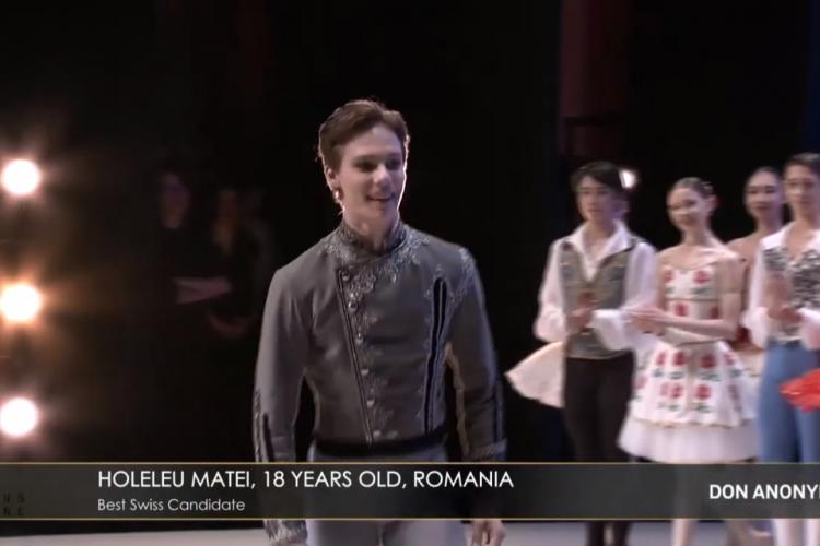 Clujeanul Matei Holeleu a câștigat Prix de Lausanne la balet, echivalentul Wimbledon- ului