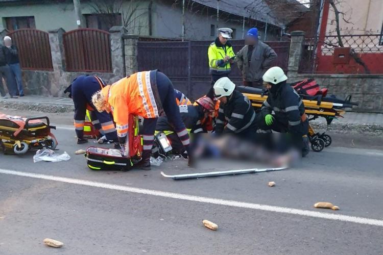 UPDATE: Una dintre victime a murit/CLUJ: Un șofer a lovit două femei pe trecerea de pietoni FOTO