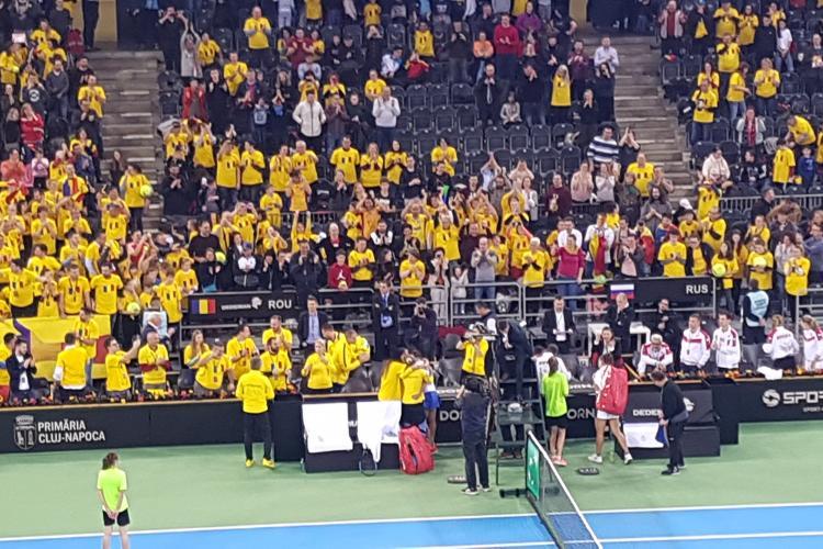 Jaqueline Cristian, meci de infarct la Cluj, în Fed Cup. România a egalat Rusia - VIDEO