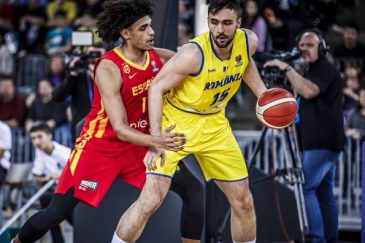 România învinsă de Spania la Cluj, în Grupa A din FIBA EuroBasket 2021
