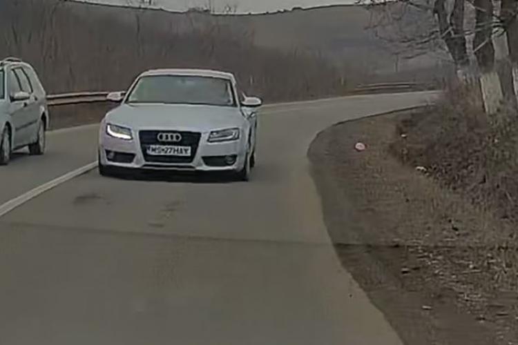 Inconștiență maximă pe drumul Cluj - Mureș. Așa sunt omorâți oamenii nevinovați - VIDEO