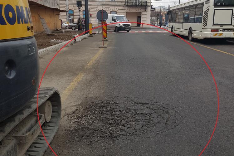 Strada Regele Ferdinand se rupe sub trafic, deși nu a fost încă inaugurată - FOTO