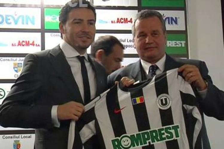 "Adrian Cristea, prezentat oficial la U Cluj fara Bianca: ""Astept sa joc impotriva CFR Cluj"" - VIDEO"