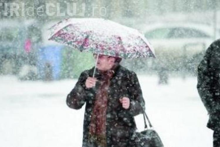 Iarna isi intra in drepturi la Cluj! Fenomene meteo periculoase in urmatorele 24 de ore