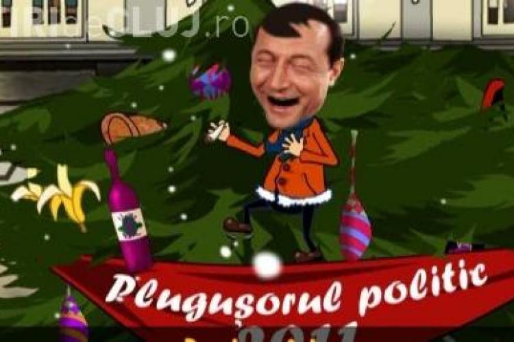 """Plugusorul lui Basescu: """"Eu v-am inhamat pe toti, cu bunici si cu nepoti / Sa trageti la plugul tarii, pan' la culmile rabdarii"""" - VEZI VIDEO"""