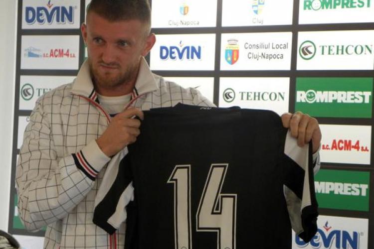 Fostul fundas de la AS Roma, Adrian Pit, a fost pus pe liber de U Cluj