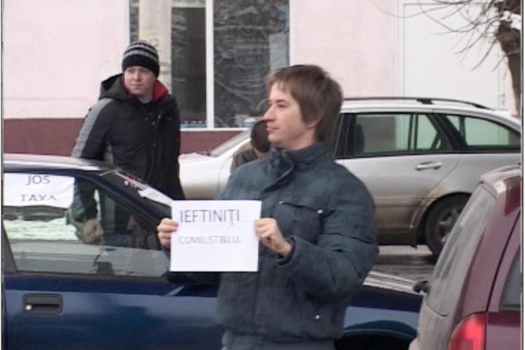 Protest la benzinariile din Cluj, joi 6 ianuarie. Vezi unde si la ce ora se intalnesc soferii nemultumiti de pretul carburantilor
