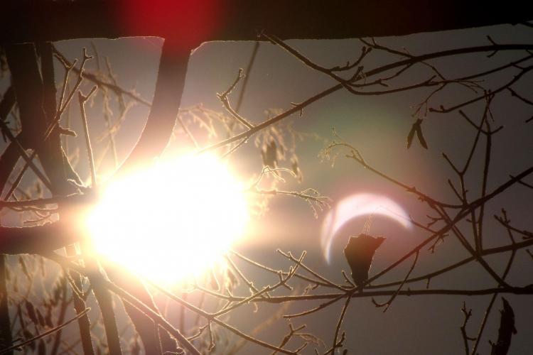 Eclipsa partiala de Soare in Romania - VEZI Galerie FOTO