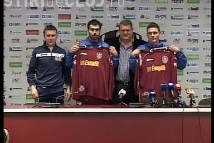 Vasile Maftei si Viorel Nicoara au fost prezentati oficial de CFR Cluj! Vezi tot ce au declarat - VIDEO