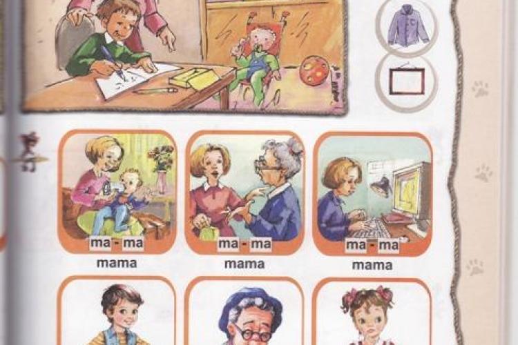 Tatii vor in abecedar alaturi de mame! Organizatia TATA considera ca manualele de clasa I sunt discriminatorii