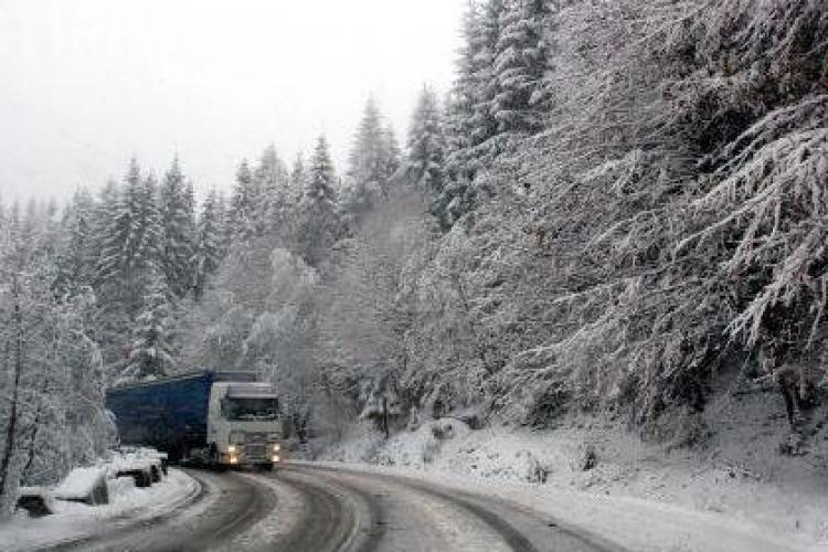 Drumul National 1R (Belis) acoperit cu un strat de zapada! Circulati cu prudenta!