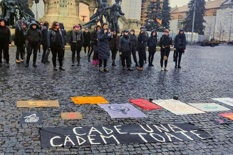 Protest la Cluj contra violenței asupra femeilor, organizat de 8 martie - FOTO