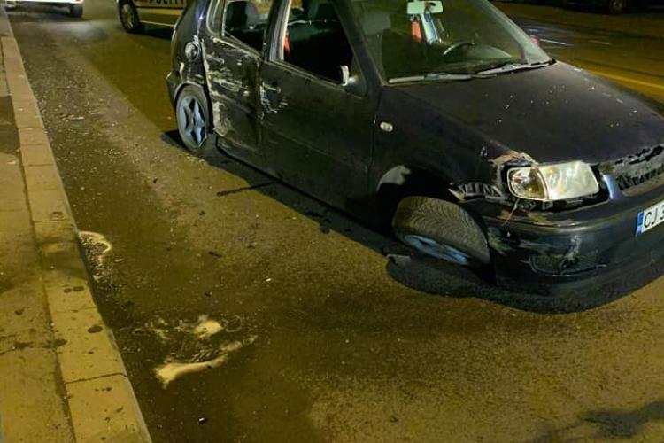 Accident cauzat de un șofer beat la volan, pe strada Oașului. A scăpat ca prin minune FOTO