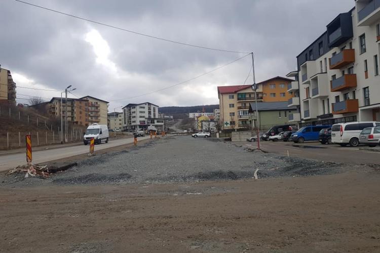 Strada Eroilor din Florești va fi terminată în vară - FOTO