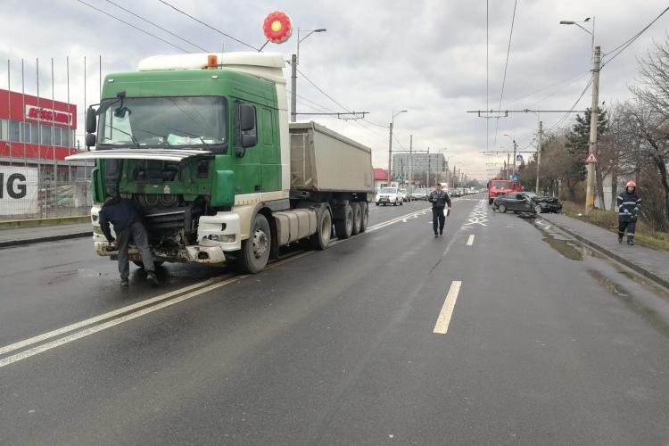 Accident grav pe strada Traian Vuia, la Aeroportul Cluj