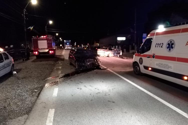 Accident cu trei victime pe un drum din Cluj. Un șofer BEAT la volan a intrat pe contrasens