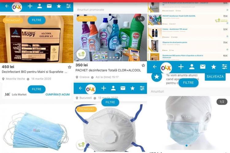 OLX  a scos toate anunțurile care încurajează specula cu măști, geluri anti-bacteriene și alte produse medicale