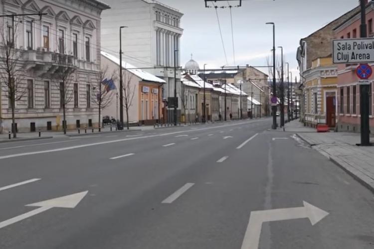 Cum arată Clujul în prima zi de la aplicarea Ordonanței Militare care restricționează circulația pe străzi VIDEO