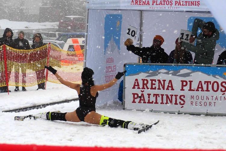 Nebunie pe pârtia de la Arena Platoș Păltiniș, la Bikini Race 2020 - FOTO