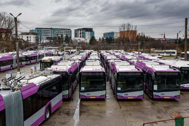 La Cluj, s-a redus numărul de autobuze, troleibuze și tramvaie