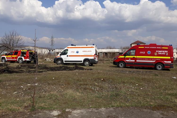 Clujean găsit mort pe câmp la Dej, în timpul unui incendiu de vegetație FOTO