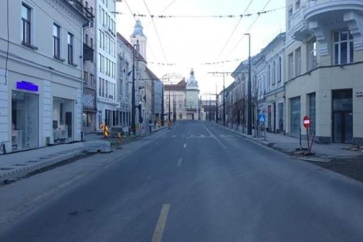 """Clujul, sâmbătă, 14 martie! Orașul pare părăsit, scenă dintr-un """"film"""" cât se poate de real - FOTO"""