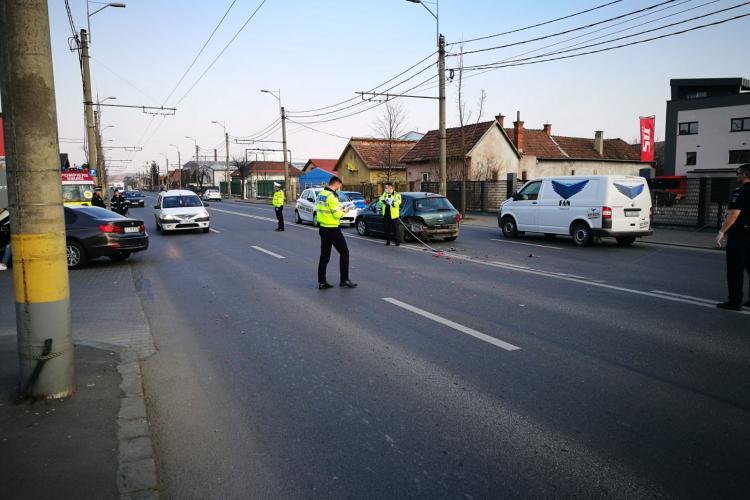 Accident pe Traian Vuia, lângă Aeroportul Cluj - VIDEO și FOTO
