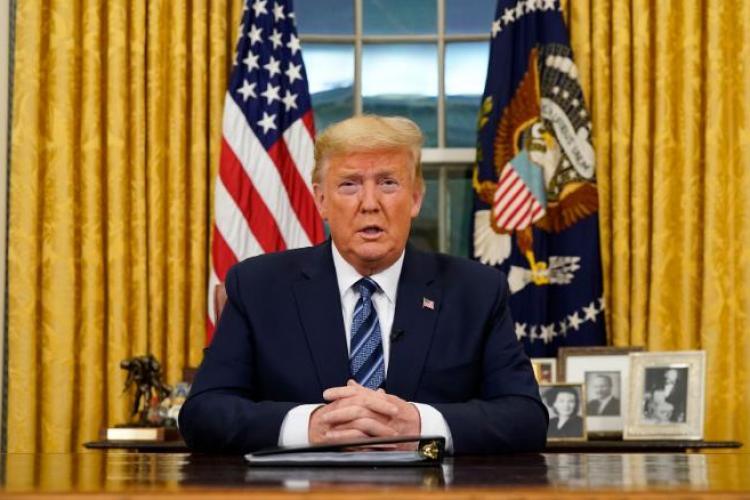 Donald Trump a suspendat zborurile din Europa spre SUA - VIDEO