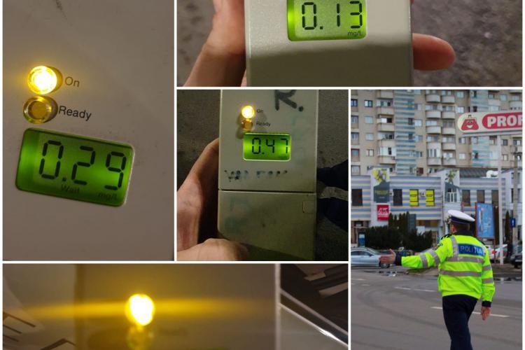 Razie la Cluj pentru a depista șoferii băuți la volan. Câte persoane au rămas fără permis într-o singură noapte