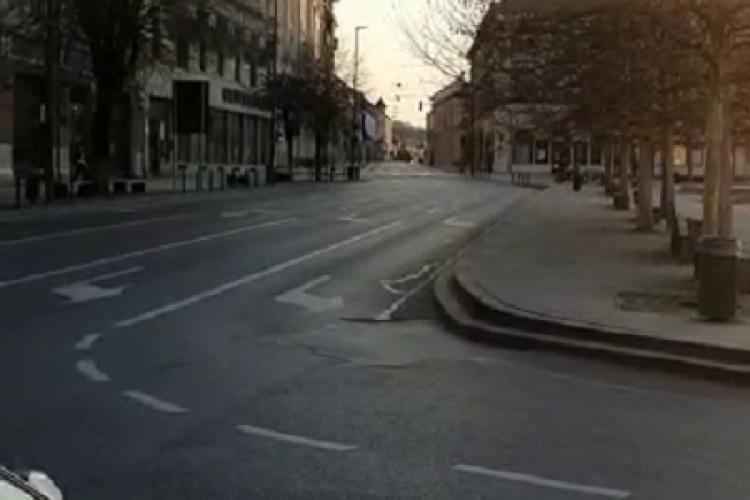 Clujul mai gol ca niciodată, Pur și simplu nu trece nimeni - VIDEO