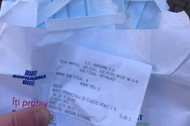 Se normalizează prețul la măști de protecție? 3 lei bucata la Cluj - FOTO