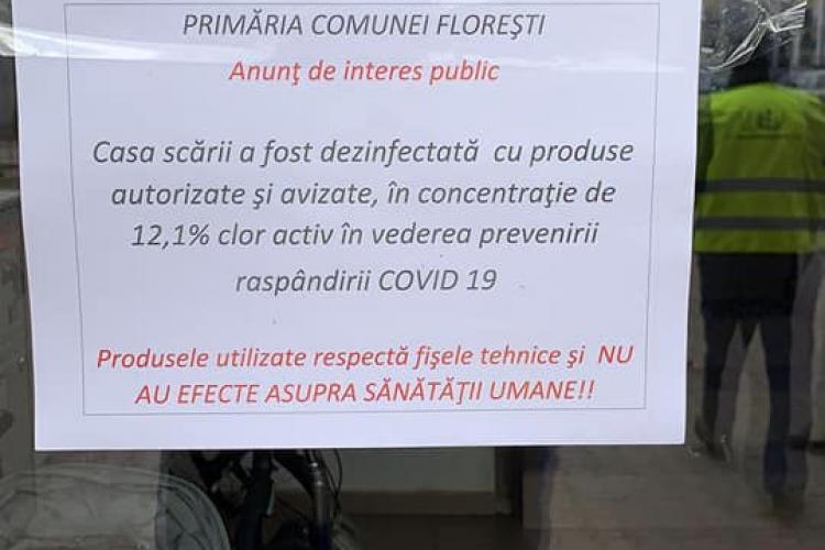 1000 de scări de bloc din Florești vor fi dezinfectate - VIDEO