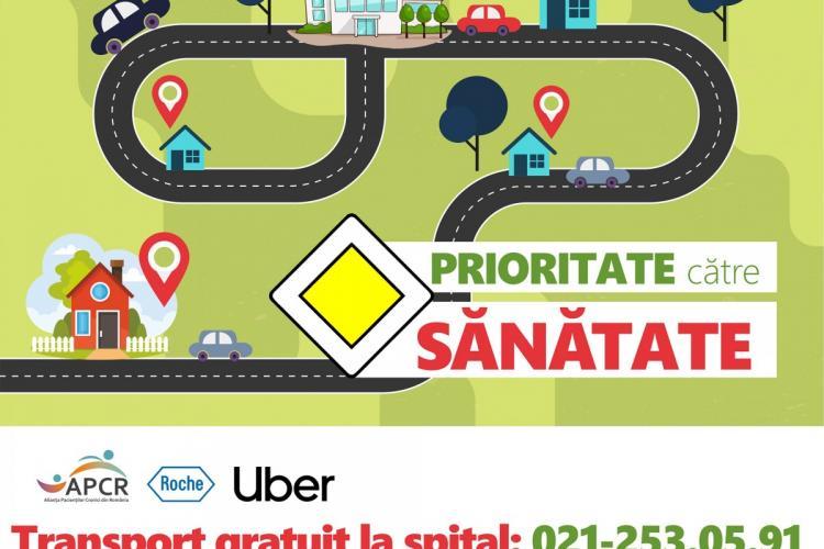 Bolnavii cronici din Cluj au transport gratuit la spitale cu Uber