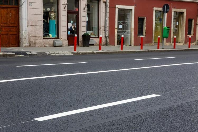 Noi marcaje rutiere pentru treceri de pietoni și parcări la Cluj