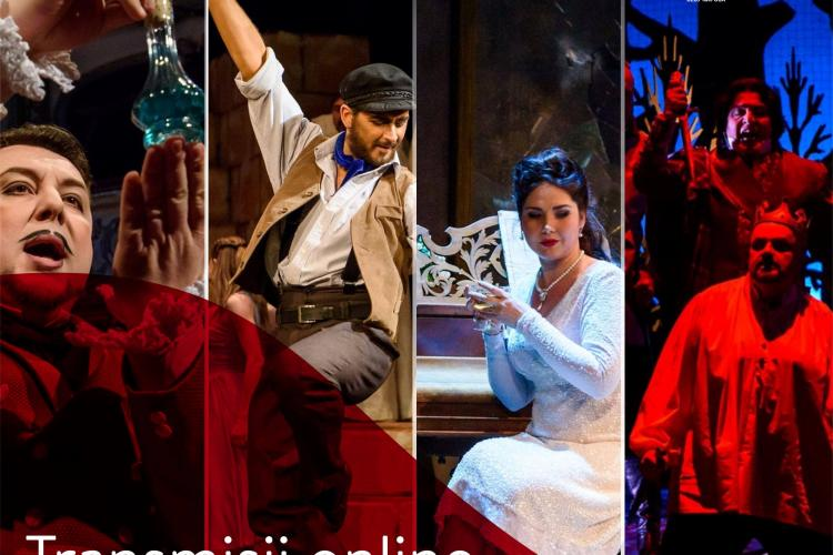 Cluj: Spectacole de operă online și în luna aprilie. Ce spectacole pot fi văzute