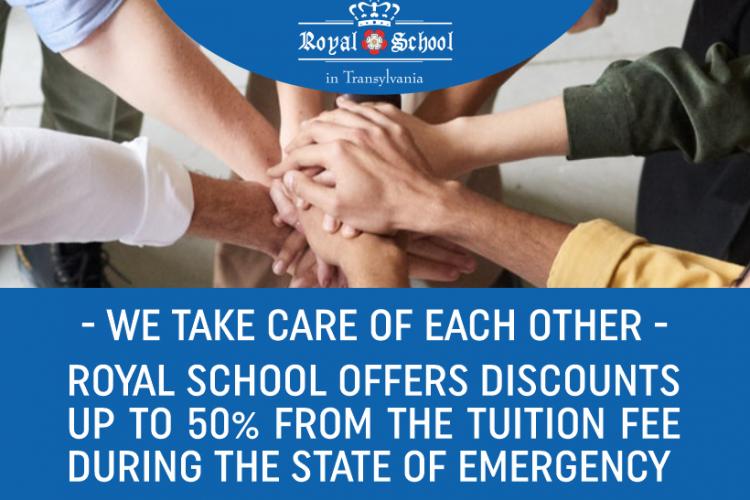 """Royal School in Transylvania anunță reduceri ale taxelor de școlarizare cu până la 50%: """"Avem grijă unii de ceilalți!"""" (P)"""