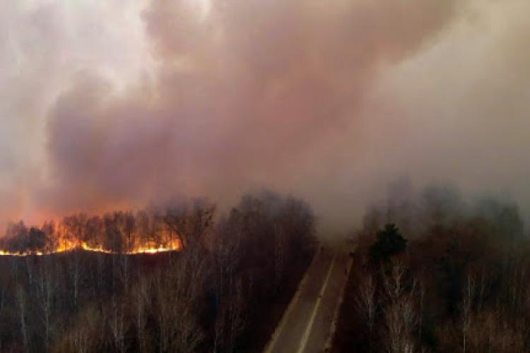 ANM anunță care este direcția norului de fum de la Cernobîl
