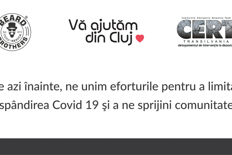 Parteneriat între Beard Brother, Vă ajutăm din Cluj și CERT Transilvania pentru a ajuta persoanele afectate de COVID-19