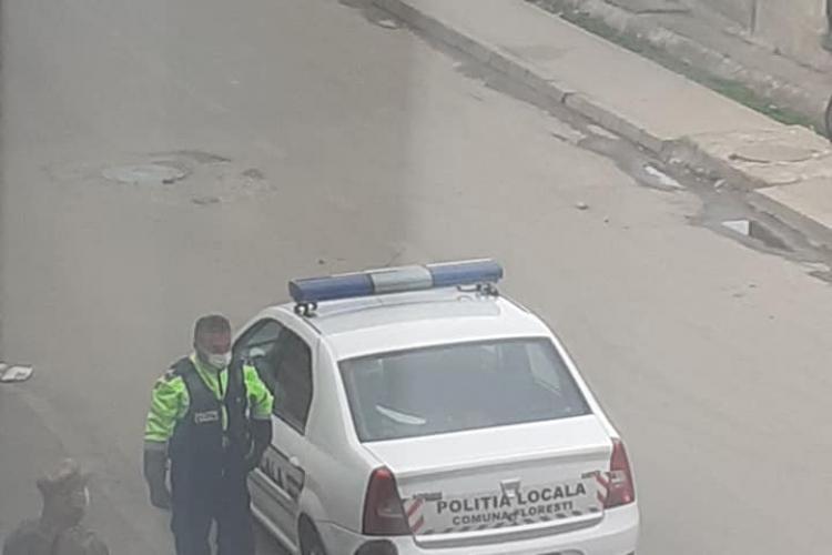 Punct permament de poliție și armată în colonia de romi din Florești - FOTO