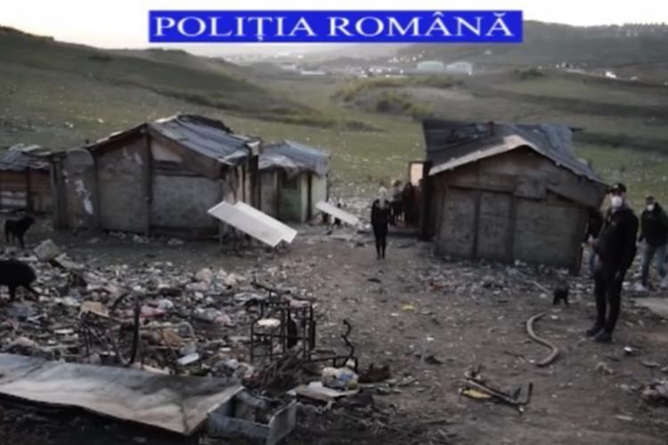 Controale în zona coloniilor de romi de la Pata Rât. Mai multe persoane au fost duse la secția de Poliție VIDEO