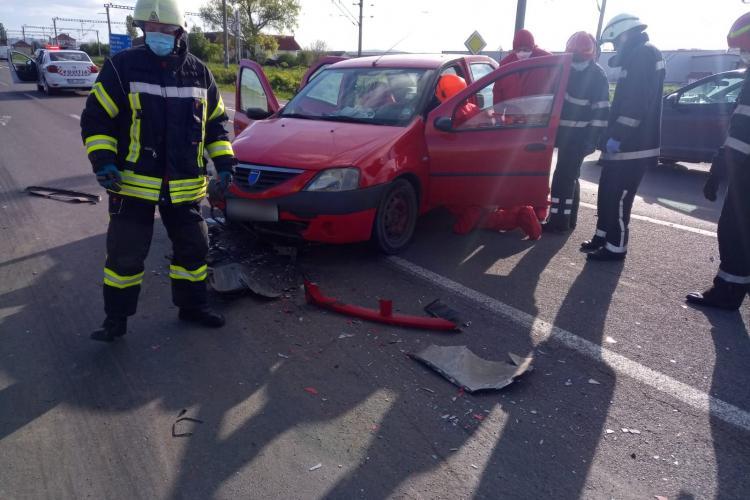 Accident cu o victimă la Jucu. Traficul e restricționat pe sensul Cluj - Gherla FOTO